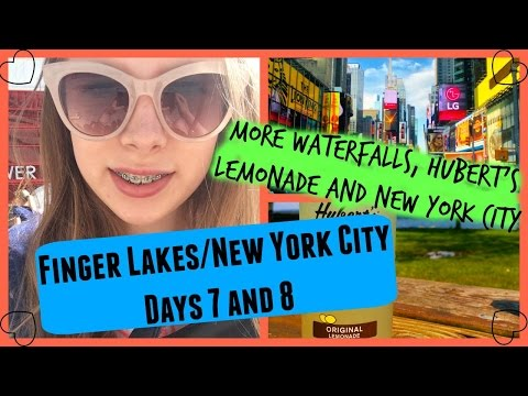 More Waterfalls, Hubert's Lemonade and New York City vlog: Days 7 and 8   itsallthingsme x