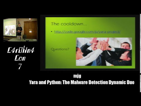 Yara and Python: The Malware Detection Dynamic Duo - mjg (Michael Goffin) - CarolinaCon 7