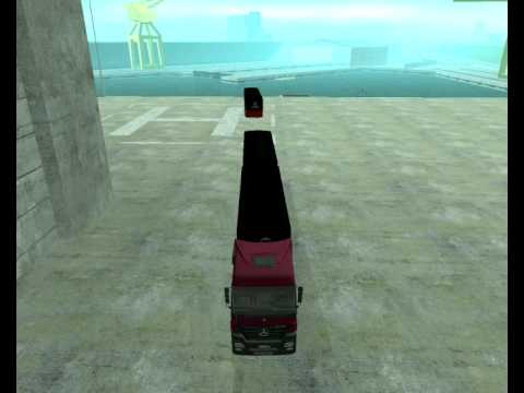 GTA San Andreas-Game tip on how to attach a third semi-trailer and make a B-Triple