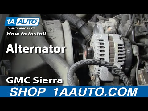 How To Install Replace Alternator Chevy Silverado Tahoe GMC Sierra Yukon 99-02 1