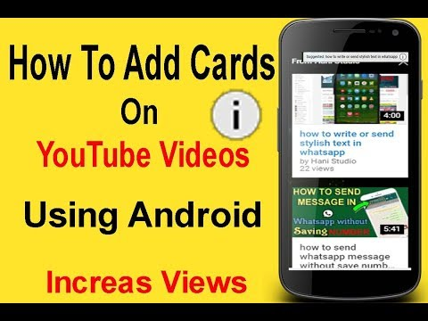 how to add cards on youtube videos using android phone easily step by step