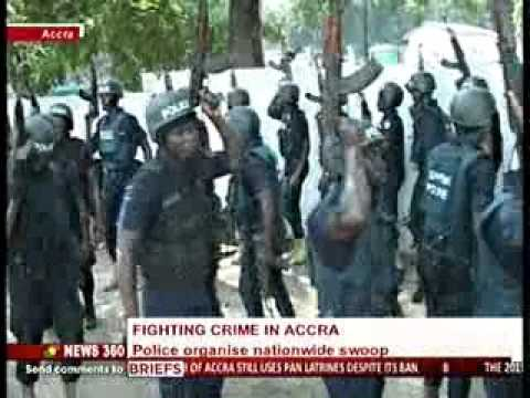 News360 - Police organise nationwide swoop to fight crime in Accra - 19/11/2015