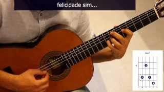 "Cómo tocar ""A felicidade"" en guitarra, de Tom Jobim / How to play ""A felicidade"" on guitar"