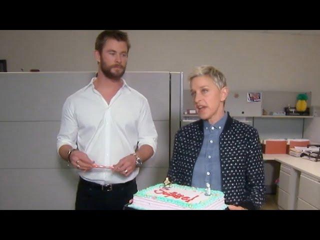 Chris Hemsworth Shows Ellen DeGeneres Why He's the Ultimate Guy's Guy