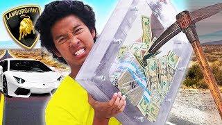 Lamborghini VS. Unbreakable GLASS Box For $10,000 (Unbreakable Glass Challenge)