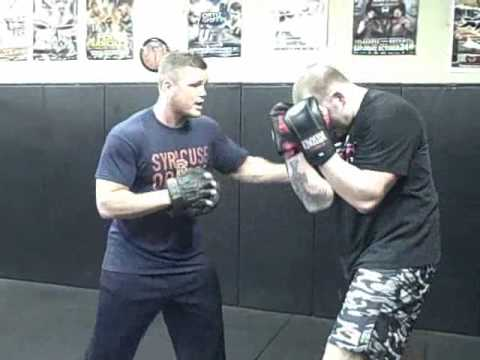 Mma Striking Training Workout-Punch Mitt Technique Drill. Image 1