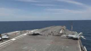 X 47B Completes First Carrier based Launch Long
