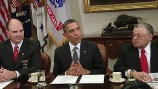 The President and Vice President Discuss Reducing Gun Violence with Law Enforcement Officials