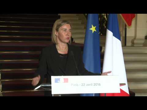 Mogherini in Paris - Joint press conference with French Foreign Minister Jean Marc AYRAULT