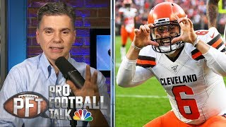 Baker Mayfield, Odell Beckham Jr. put Giants at center of attention | Pro Football Talk | NBC SPorts