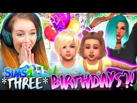 🎁🎁🎁THREE BIRTHDAYS!?🎁🎁🎁 (The Sims 4 IN THE SUBURBS #25! 🏘)