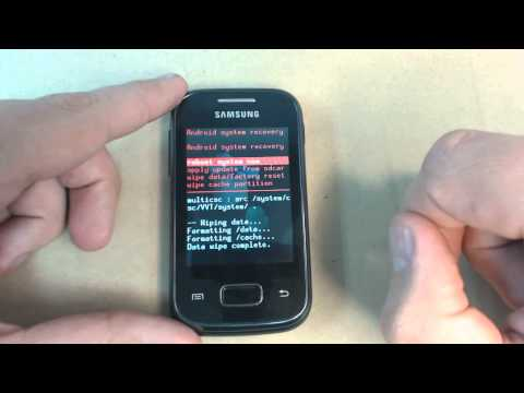 Samsung Galaxy Pocket S5300 - How to unlock pattern lock by hard reset