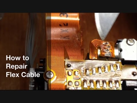 How to repair Flex cable - Flexible PCB type flat copper ribbon cable