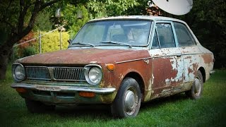 1969 1st generation Toyota Corolla KE11 find, buy and first start after ~15 years