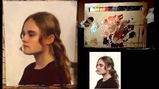 Portrait painting demo / Learn how to paint a portrait