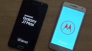 Samsung J7 Max Vs Moto G5+ Comparision !! Speed Comparision !! HINDI