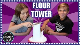 FLOUR TOWER CHALLENGE WITH BONUS CHALLENGES!