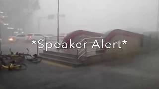 Extreme Weather Footage: Rare Thunderstorm Sends People Airborne (Video)
