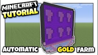 Minecraft - AUTOMATIC GOLD & PIGMAN FARM - Tutorial - PS4 / XBOX / MCPE / Switch