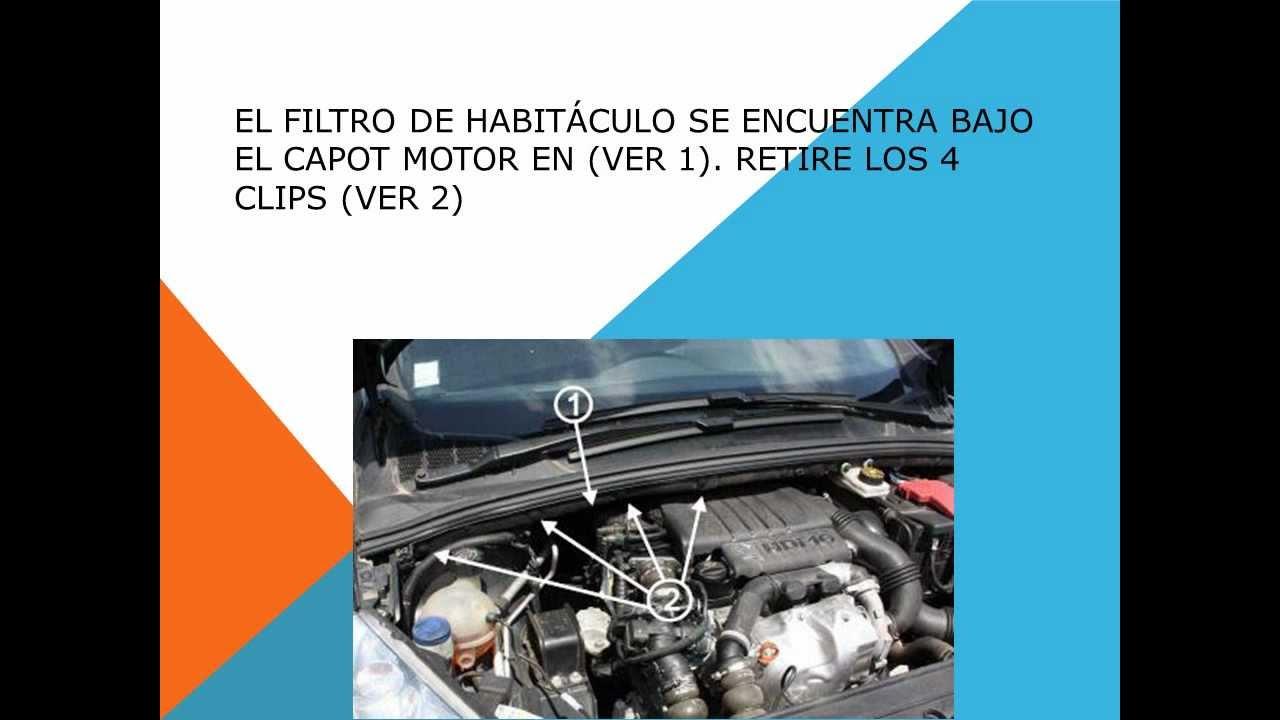 Como Cambiar Filtro Habitaculo Filtro Anti Polen En Un Peugeot 308 Youtube