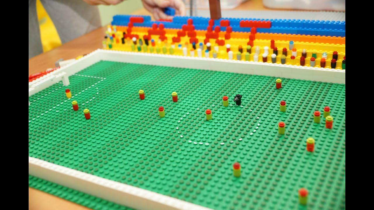 Как из лего сделать стадион
