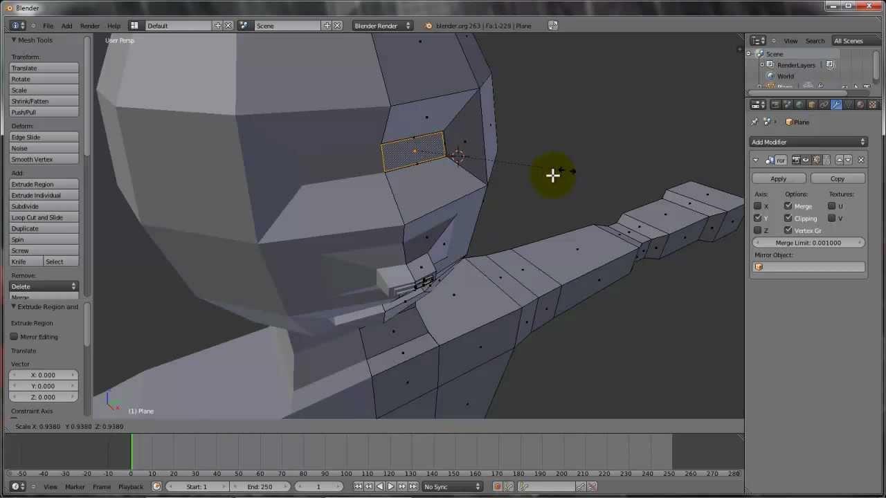 Curso hd 01 tutorial blender 3d modelar personagem for Modelar habitacion 3d max