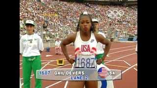 USA's Gail Devers Claims 100m Gold In Tight Finish - Barcelona 1992 Olympics