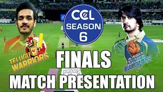 CCL6 Finals- Telugu Warriors VS Karnataka Buldozers - Match Presentation