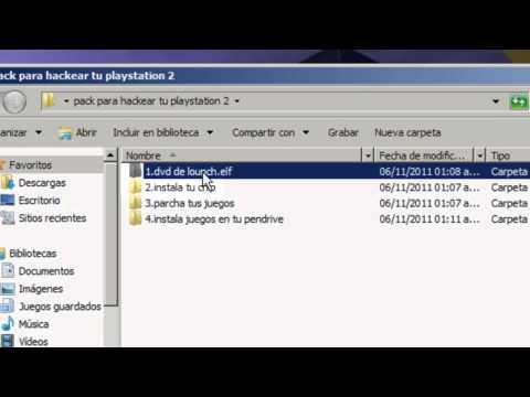 como hackear la playstation 2.paso 1 ''ulaunchelf''
