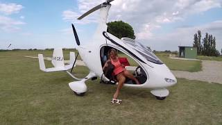 Gyrocopter Girl Flying Cavalon from Germany to South of France 2014