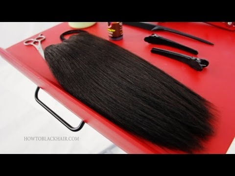 Quick Weave Glue In Extensions Hairstyle For Black Women Hair Tutorial Supplies Part 1