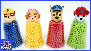 PAW patrol wrong heads play in Kinetic Sand toy for Kids. Learn Color with beads [JJtoy TV]