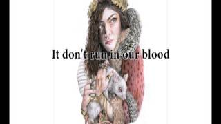 Lorde - Royals (lyric video)
