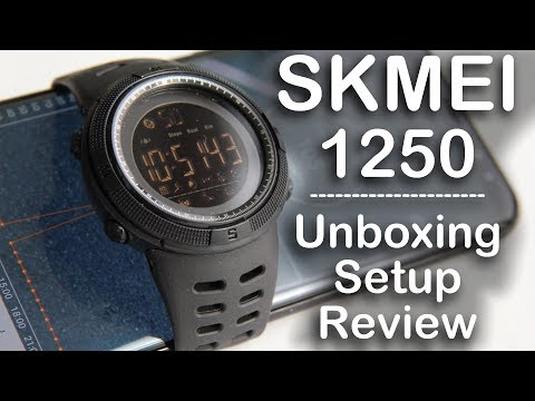Skmei 1250 Smartwatch unboxing setup and review