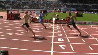 100m Sprint Knee Broken Helsinki - Track Runner Braking Brakes Leg Knee During Sprint - Full HD -