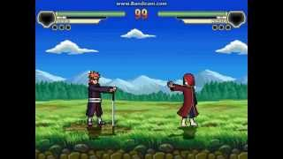 Yahiko VS Nagato in M.U.G.E.N