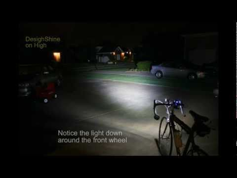 DesignShine DS-1300 Lumen vs. MagicShine 900 Lumen. Beamshot Shootout