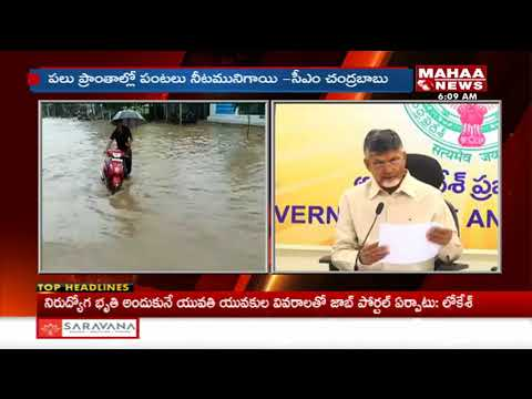 AP CM Chandrababu Reacts On Damaged Crops | Mahaa News