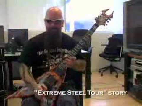 slayer's kerry king doing a dead skin mask lesson