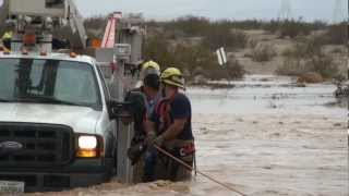 RAW VIDEO: Imperial County Fire Department rescues man atop truck