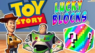 Minecraft RAINBOW LUCKY BLOCK TOY STORY PVP CHALLENGE