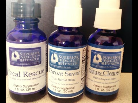 Voice health supplements from SUPERIOR VOCAL HEALTH --the BEST!