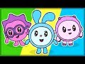 Мультик. Раскраска. Малышарики. Учим цвета. Cartoon. Learn Colors.