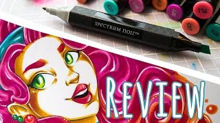 REVIEW Spectrum Noir Markers + Speed Drawing (Brights Set)