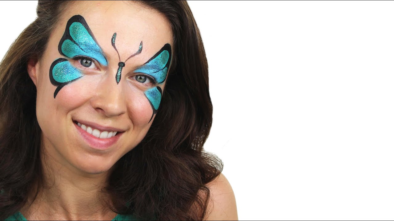 Грим бабочки на лице ребенка фото