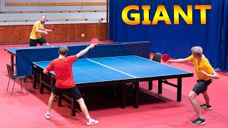 2 vs 1: Giant Ping Pong