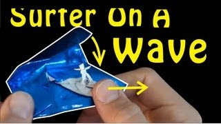 Fold an Origami Surfer On a Wave! Designed by Jeremy Shafer