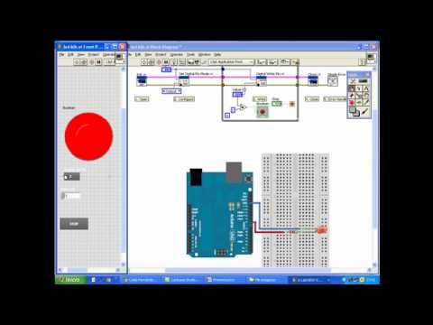 Control de un motor de corriente continua Arduino LabVIEW