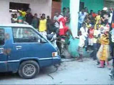 Scene De Mascarade Du Carnaval Jacmel