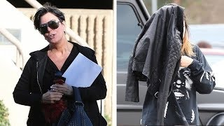 Kylie Jenner Accompanied By Mom After Nasty Trampoline Fall [2014]